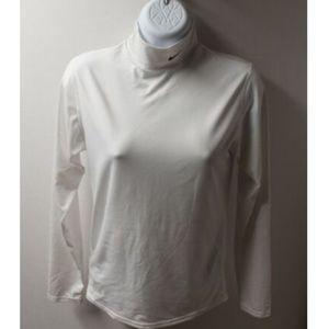 Nike Women's White Turtleneck Dri-Fit Long Sleeve